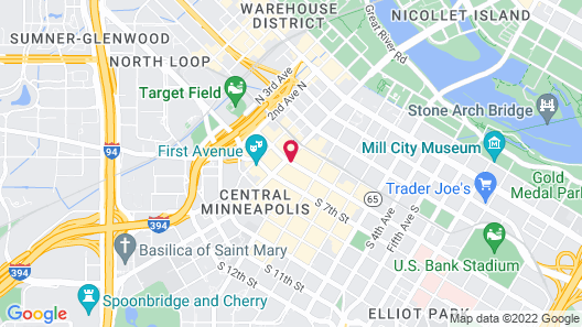 Embassy Suites by Hilton Minneapolis Downtown Map