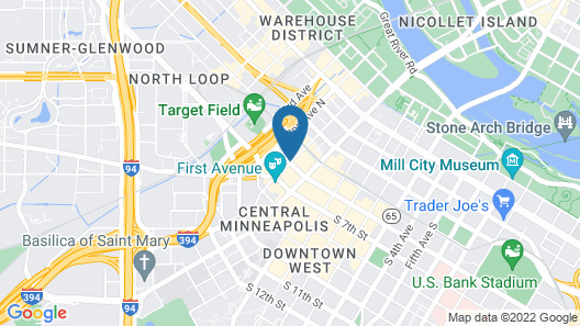 Loews Minneapolis Hotel Map