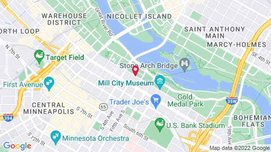 Residence Inn Minneapolis Downtown at The Depot by Marriott Map