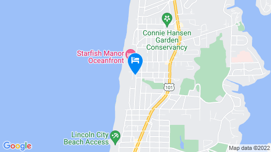 Surftides Lincoln City Map