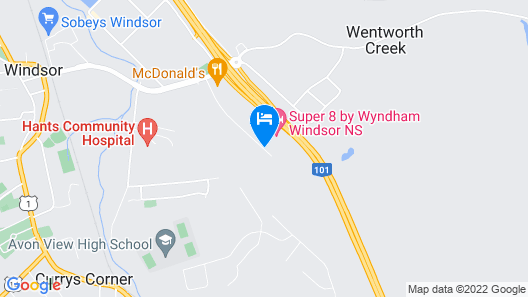 Super 8 by Wyndham Windsor NS Map