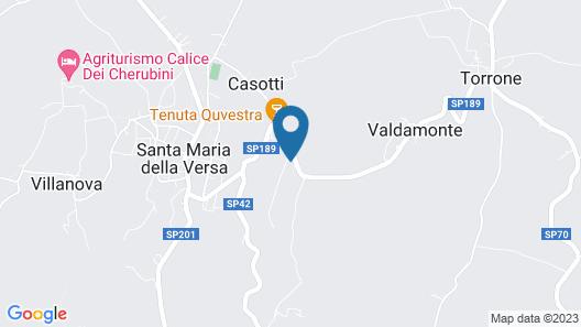 Spacious Farmhouse in Santa Maria Della Versa With Pool Map