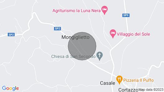 Vacation Home Casa San Secondo in Cortazzone - 10 Persons, 5 Bedrooms Map
