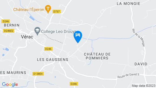 La Grange d'Oustaud Map