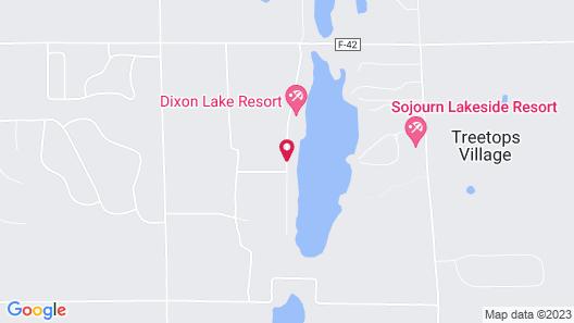 Dixon Lake Resort Map