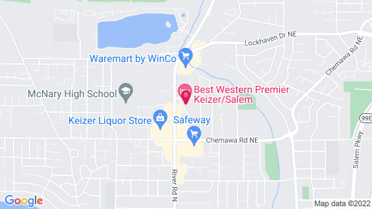 Best Western Premier Keizer/Salem Hotel Map
