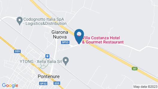 Villa Costanza Map