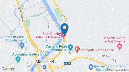 Best Quality Hotel La Darsena Map