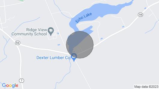 Waterfront Cabin on Quiet Fishing Lake Map