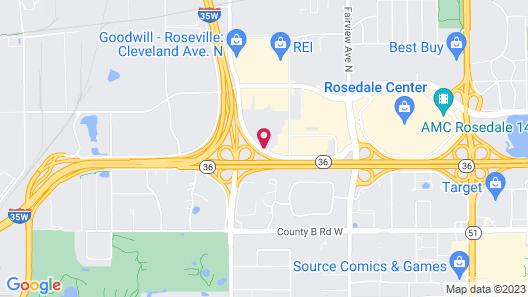 Motel 6 Roseville, MN - Minneapolis North Map