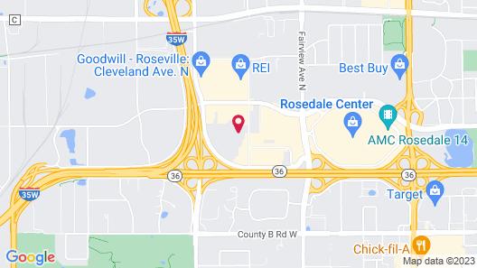 Norwood Inn & Suites - Roseville Map