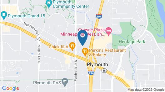 Comfort Inn Plymouth-Minneapolis Map