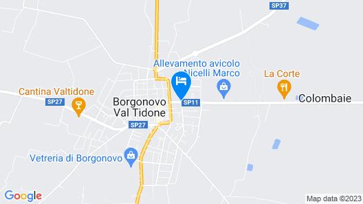 Valtidone Hotel Map