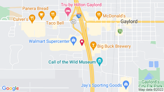 Holiday Inn Express & Suites Gaylord Map