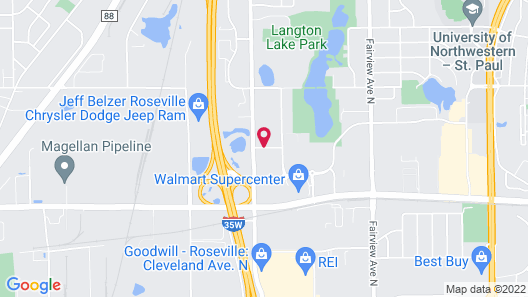 Hampton Inn Minneapolis-Roseville Map