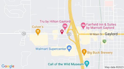 Best Western Gaylord Map