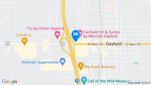 Quality Inn Gaylord Map