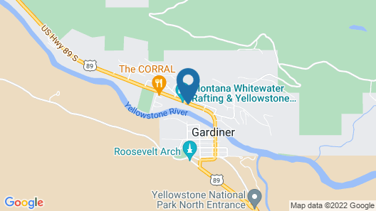 Yellowstone Riverside Cottages Map