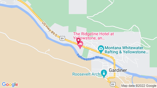 The Ridgeline Hotel at Yellowstone, Ascend Hotel Collection Map