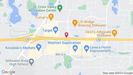 Super 8 - Stillwater/St Paul Area Map