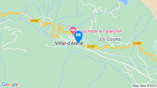 Residence la Meije Blanche Map