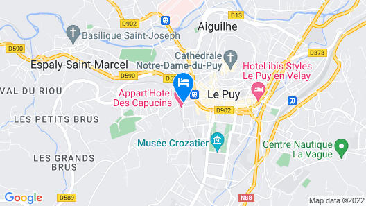 Appart Hôtel des Capucins Map