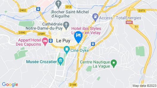 ibis Styles Le Puy-en-Velay Map