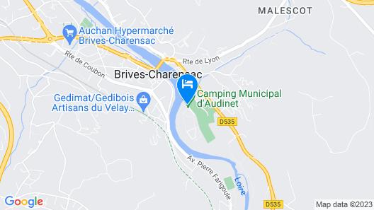 Camping d'Audinet - Résidence Toilée Map