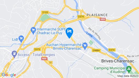 Deltour Hotel Puy en Velay Map