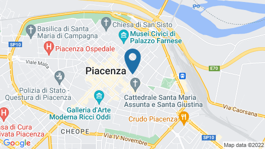 La Meridiana Map