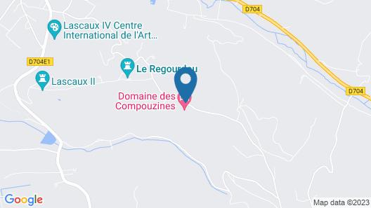 Domaine des Compouzines Map