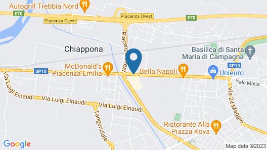 Idea Hotel Piacenza Map