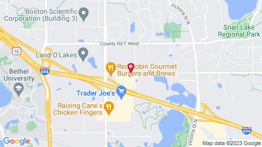 Best Western Plus St. Paul North/Shoreview Map