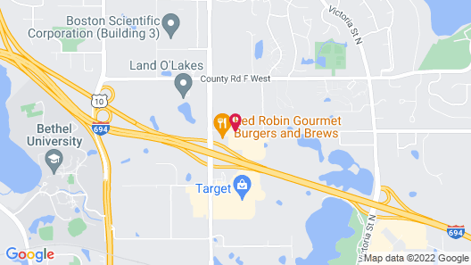 Hilton Garden Inn Minneapolis St. Paul-Shoreview Map