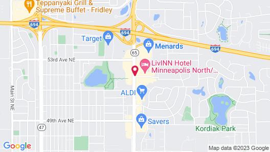 LivINN Hotel Minneapolis North / Fridley Map