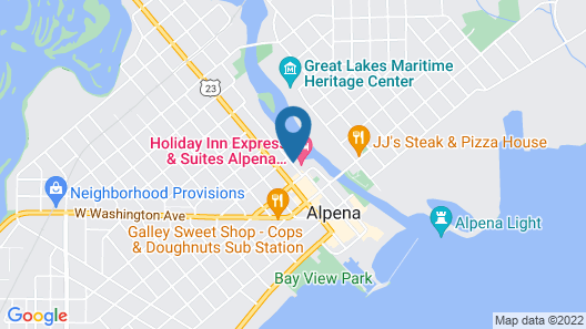 Holiday Inn Express & Suites Alpena - Downtown Map