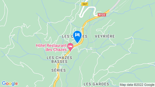Hotel des Chazes Map