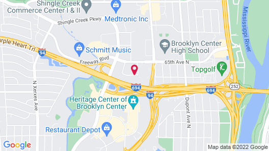 Quality Inn - In the business district Map