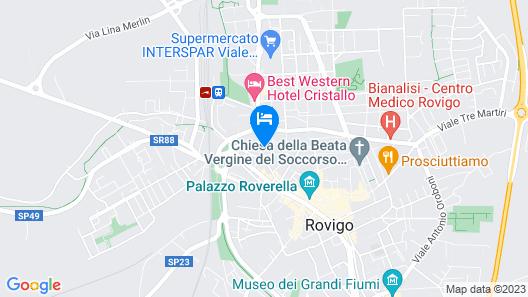 Villa Regina Margherita Hotel Map