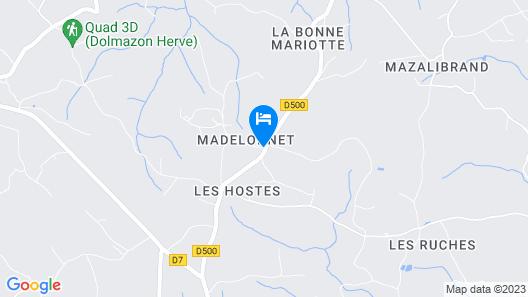 La Ferme de Madelonnet Map