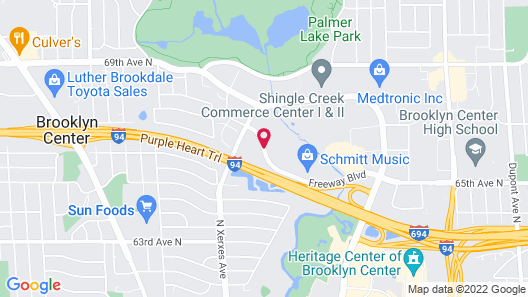Extended Stay America - Minneapolis - Brooklyn Center Map