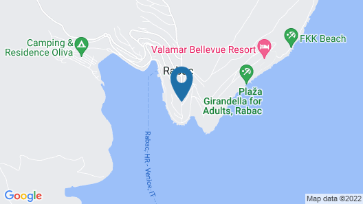 Allegro Sunny Hotel by Valamar Map