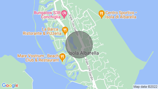 Villa With own Outdoor Pool on the Island Albarella Map