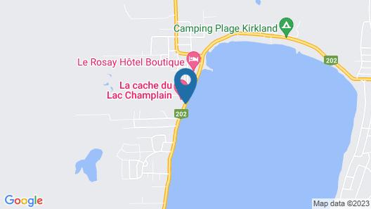La Cache du Lac Champlain by C Hôtels Map