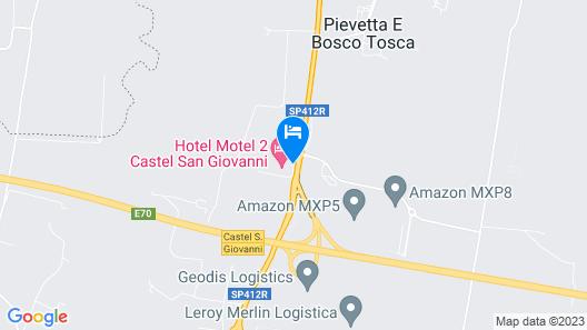 Hotel Motel 2 - Castel San Giovanni Map