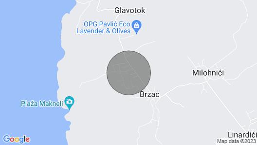 Klassische Ferienwohnung in Brzac, Island Krk, Kroatien für 4 Personen Map