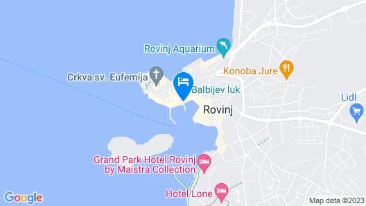 Hotel Adriatic, Rovinj Map