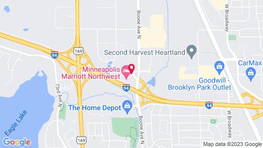 Minneapolis Marriott Northwest Map