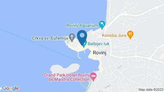 Tre Porte Rovinj by Irundo Map