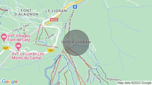 Appartement Dans Résidence Proches des Pistes de ski et Sentiers de Randonnées Map